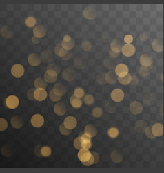 abstract golden shining bokeh vector image