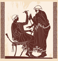 ancient greek drawing vector image
