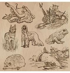 Animals around the world part 18 hand drawn pack vector