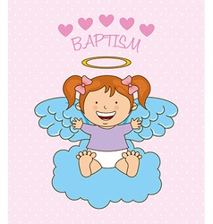 Baptism angel design vector