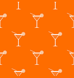 beach cocktail pattern seamless vector image