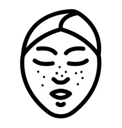 Black dots on face icon outline style vector