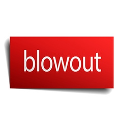 Blowout red paper sign isolated on white vector