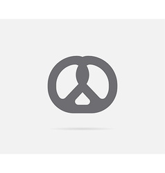 Bretzel pretzel element or icon ready for print vector