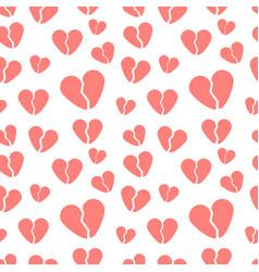 Broken hearts template vector