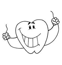 Cartoon tooth vector