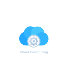 cloud computing icon logo vector image