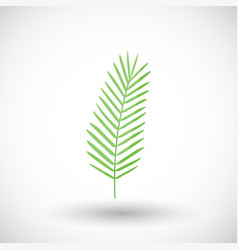 coconut palm leaves flat ico vector image