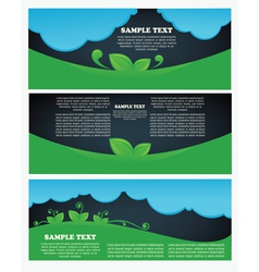 Collection ecological headers vector
