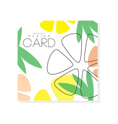 Colorful fruit card healthy and sweet food vector