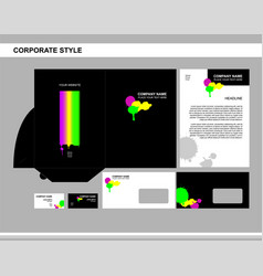 corporate style business brand vector image