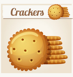 cracker cookies detailed icon vector image
