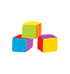 Cubes toy flat isolated vector