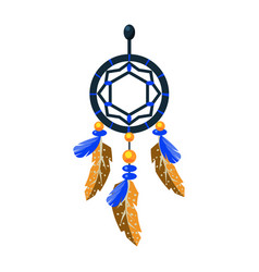 decorated dreamcatcher charm native american vector image