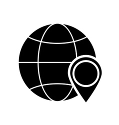 Earth globe diagram gps map pointer and icon vector