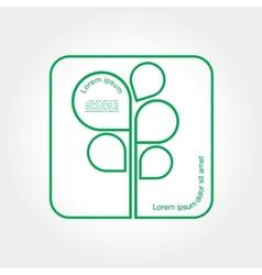 Eco Green Tree logo template vector