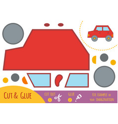 education paper game for children car vector image