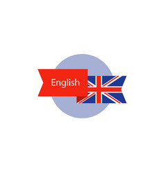 English class icon learning concept language vector