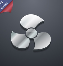 Fans propeller icon symbol 3D style Trendy modern vector image