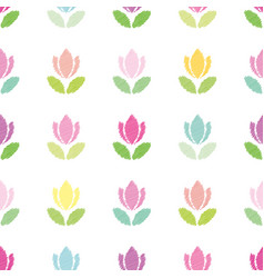 floral seamless pattern background embroidery vector image
