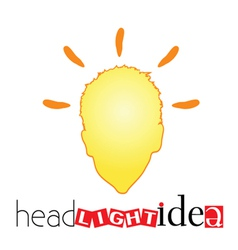 Head light idea art vector