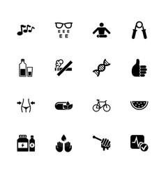 Health - flat icons vector