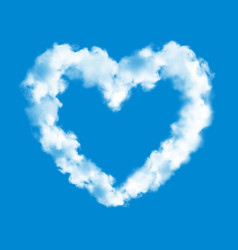 heart cloud on blue sky background love symbol vector image