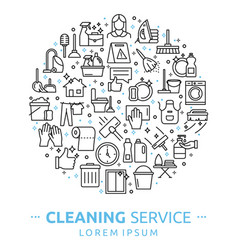 house cleaning services vector image