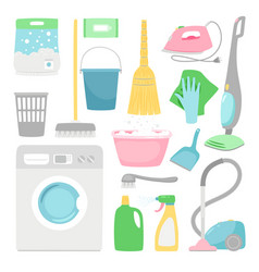 Household cleaning house clean inventory isolated vector