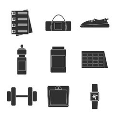 Icons set of fitness sport vector image vector image