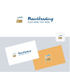 industry logotype with business card template vector image