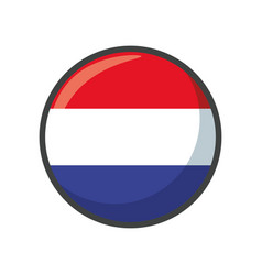 Isolated netherlands flag icon block design vector