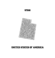 Label with map of utah vector