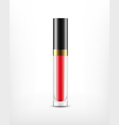 Lip gloss in glass bottle vector