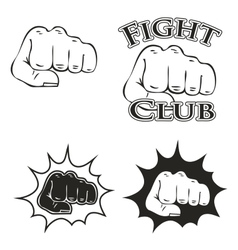 Logos with the image of a fist vector