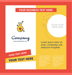 Love drink company brochure template busienss vector