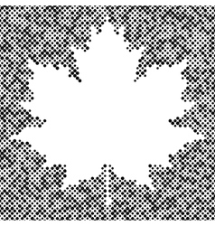 Maple leaf isolated halftone autumn background vector