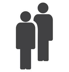 men flat icon symbol vector image