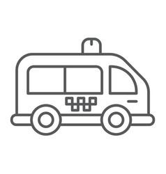 Mini bus thin line icon automobile and car vector