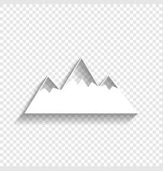 Mountain sign white icon vector