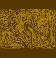Natural realistic wood texture in brown color vector
