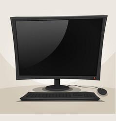 Offline desktop computer vector