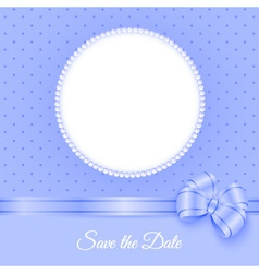 Photoframe with beads and bow vector image