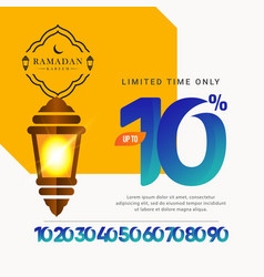 Ramadan kareem sale special offer up to 10 off vector