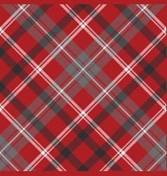 red check plaid seamless fabric texture vector image