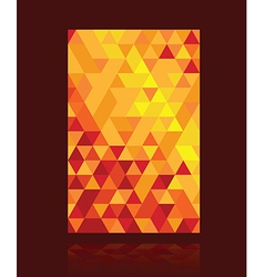 red triangle background vector image