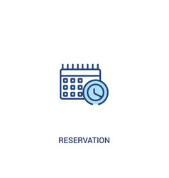 Reservation concept 2 colored icon simple line vector