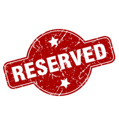 Reserved vector