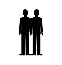 Same sex wedding silhouette vector