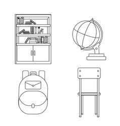 School icon set design vector